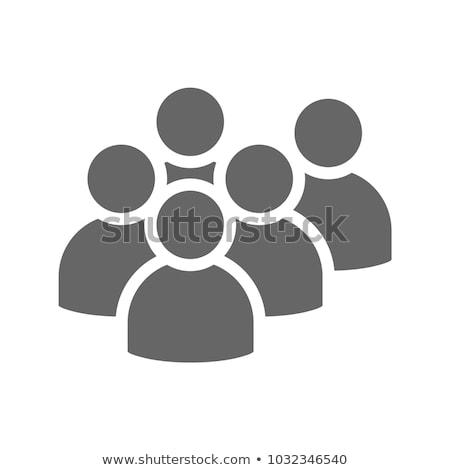 Chef d'équipe icône gris bouton design isolé Photo stock © WaD