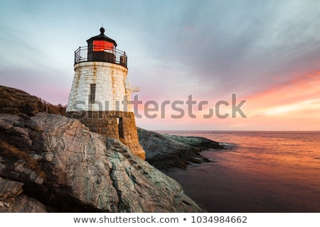 Сток-фото: небольшой · замок · холме · Маяк · Род-Айленд · США