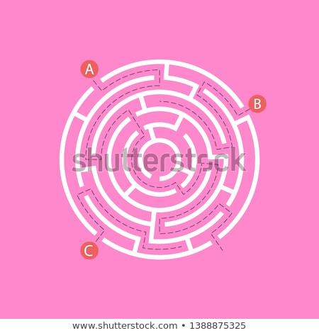 labirintus · vektor · végtelen · minta · 3D · labirintus · terv - stock fotó © kali