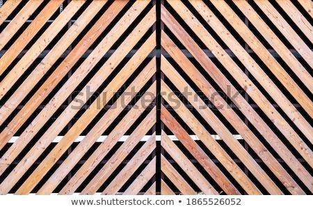 木製 フェンス 対角線 バー 実例 白 ストックフォト © bluering