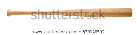 Stock photo: Wooden bat and baseball
