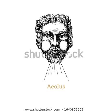 Cetvel Yunan mitoloji adam mavi kafa Stok fotoğraf © sifis