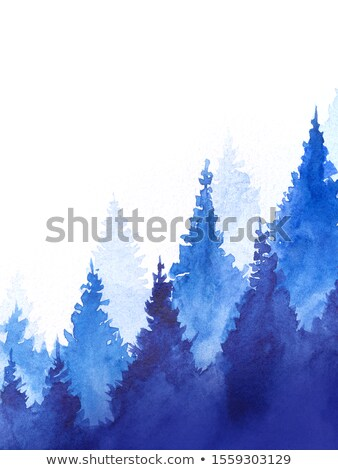 A beautiful landscape with a tall tree Stock photo © bluering