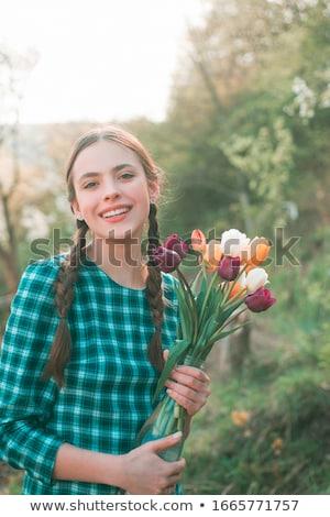 Сток-фото: девушки · Tulip · довольно · женщины