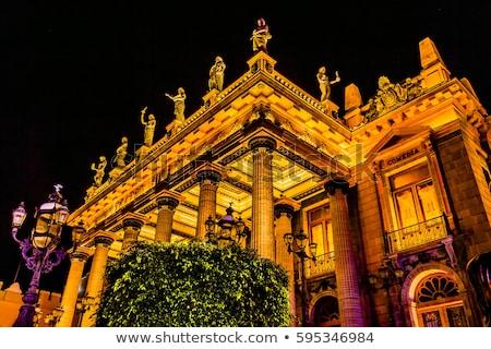 drama · theater · oude · huis · gras · gebouw - stockfoto © billperry