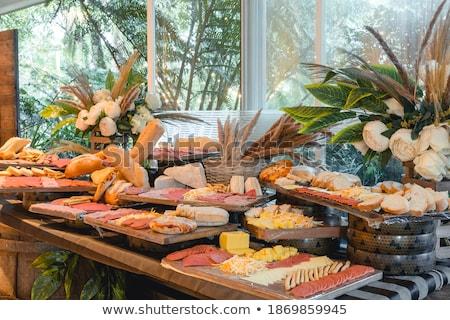 Voorgerechten ontbijt maaltijd gezonde worst bestanddeel Stockfoto © M-studio