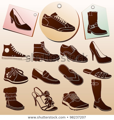 Sneakers set, sports mens gym shoes Stock photo © Andrei_