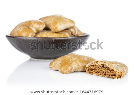 Mézeskalács kekszek fehér reggeli édes közelkép Stock fotó © Digifoodstock