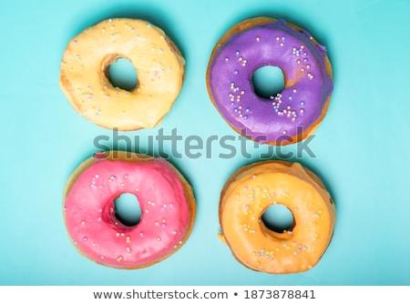 Négy ízek fánkok illusztráció csokoládé művészet Stock fotó © bluering