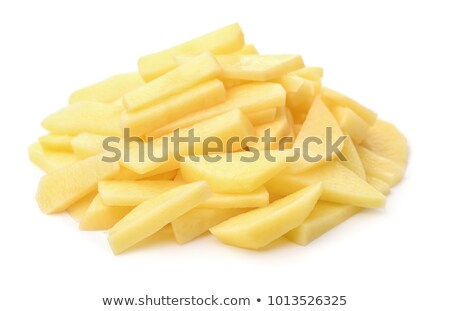 Stock photo: peeled raw potato