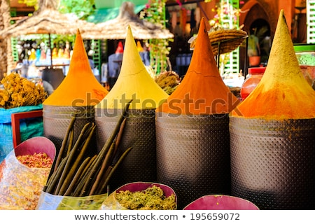 dried vegetables and spices on a street market stock photo © smuki