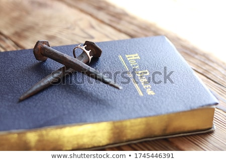 man with crucifix and word prayer Stock photo © nito