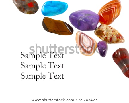 Collection of gemstones against white background Stock photo © pashabo