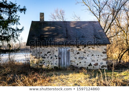 Old stone building with blue sky Stock photo © njnightsky