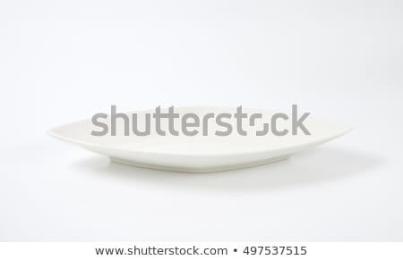 diamond shaped white dinner plate stock photo © digifoodstock
