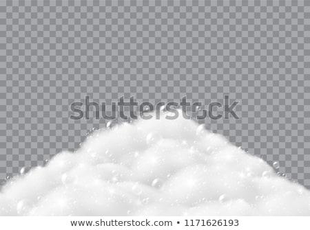 soapy foam texture on black Stock photo © OleksandrO
