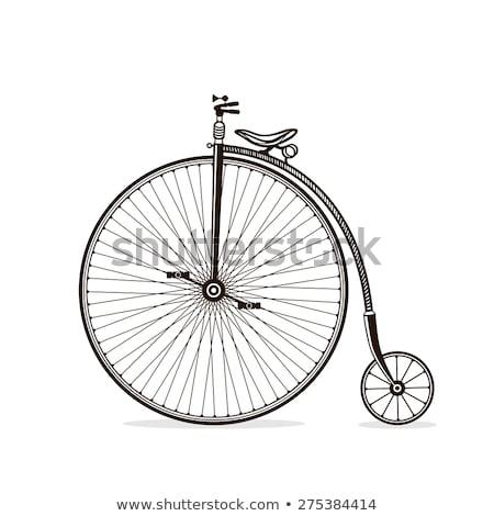 vintage · fiets · vector · silhouetten · sport · fiets - stockfoto © nikodzhi