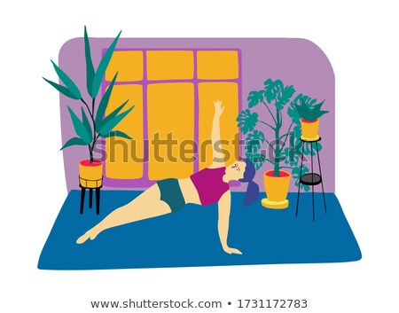 Woman with hands on her flat abs. Fitness concept.  Stock photo © Nobilior