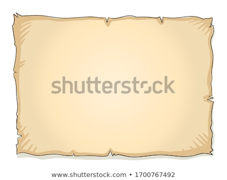 vector flat style illustration of treasure map stock photo © curiosity