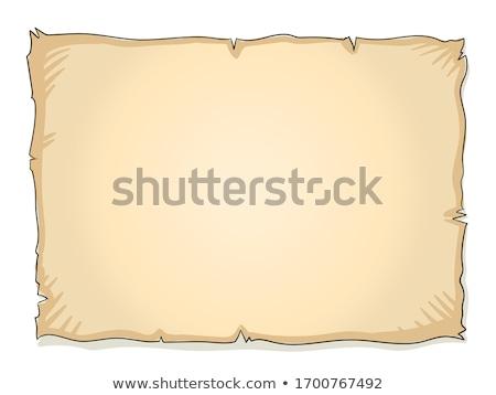Wektora stylu ilustracja treasure map odizolowany biały Zdjęcia stock © curiosity