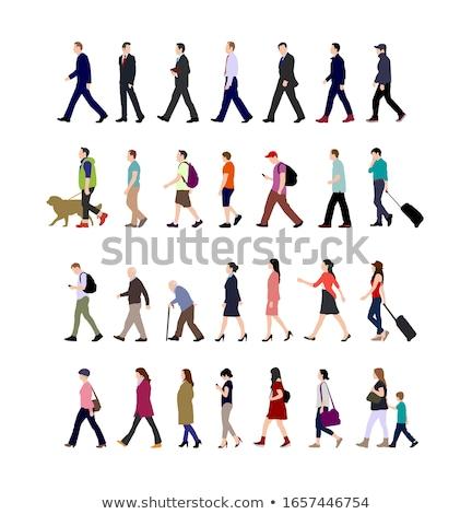 Człowiek kobieta spaceru parku strony dziewczyna Zdjęcia stock © tekso