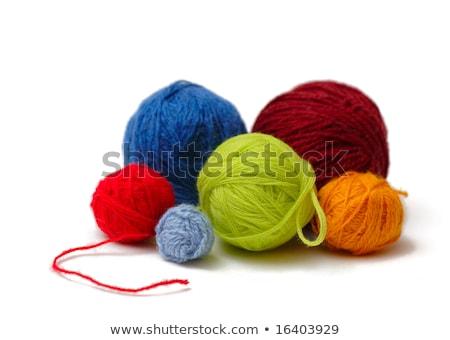 Rojo pelota hilados lana aislado Foto stock © popaukropa
