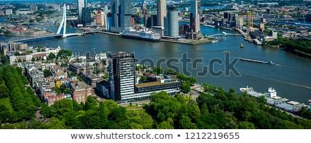 aerial panorama of rotterdam stock photo © benkrut