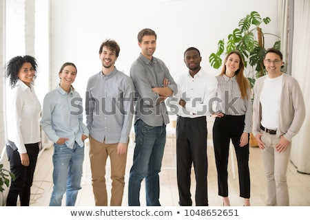 Creative Team job. young business man working with startup proje Stock photo © snowing