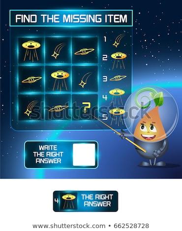 見つける 行方不明 アイテム UFOの ゲーム ストックフォト © Olena