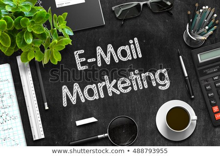 E-Mail Marketing Concept on Black Chalkboard. 3D Rendering. Stock photo © tashatuvango