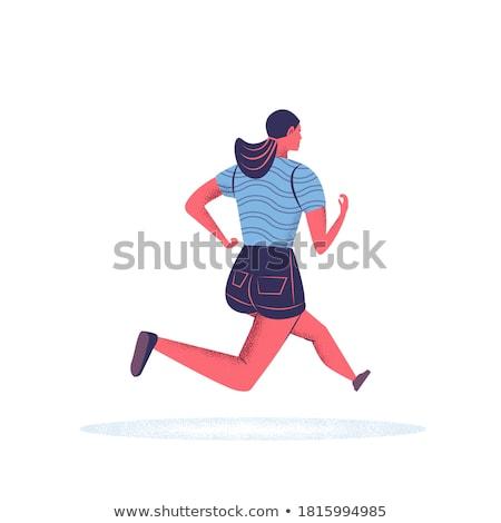 lopen · Maakt · een · reservekopie · cartoon · stijl · illustratie - stockfoto © fresh_7266481
