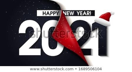 Visszaszámlálás új év illusztráció bor férfi sziluett Stock fotó © adrenalina