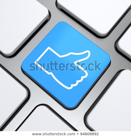 Keyboard with Blue Button - Approved. 3D. Stock photo © tashatuvango