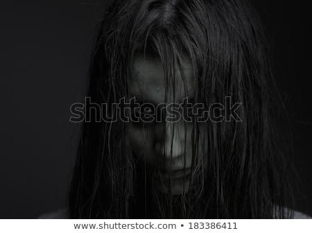 Horror oscuro nina cara emoción moda Foto stock © fotoduki