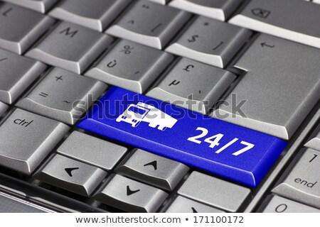 синий 24 доставки клавиатура современных Сток-фото © tashatuvango