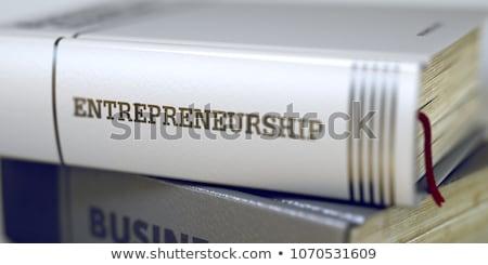 Libro título servicio gestión 3D espina Foto stock © tashatuvango
