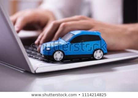 keyboard with blue keypad   check in stock photo © tashatuvango
