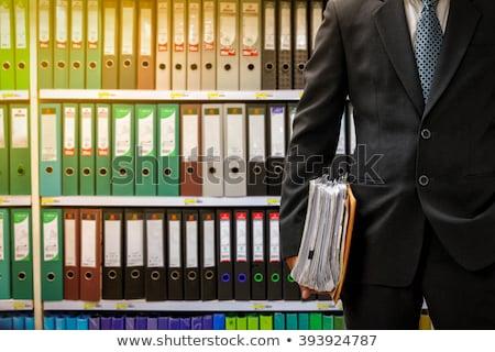Rules on File Folder. Blurred Image. Stock photo © tashatuvango