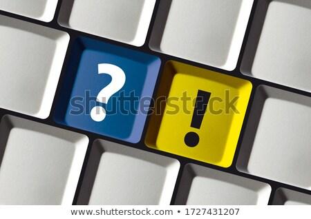 Kék figyelem numerikus billentyűzet billentyűzet gomb fogalmak Stock fotó © tashatuvango