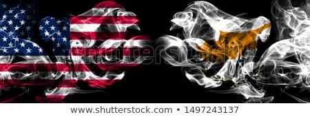 Futball lángok zászló Ciprus fekete 3d illusztráció Stock fotó © MikhailMishchenko