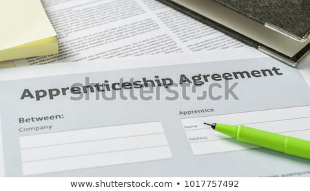 An Apprenticeship agreement with a pen on a desk Stock photo © Zerbor