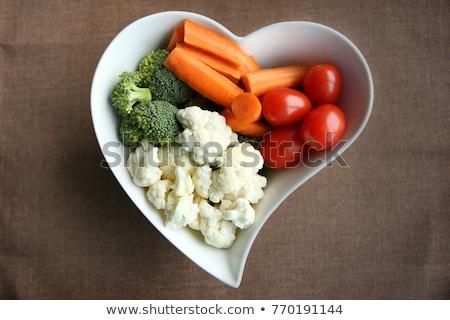 Stok fotoğraf: Sebze · malzemeler · üst · görmek · organik