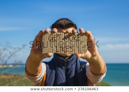 get more likes message sign stock photo © alexmillos