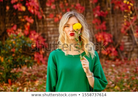 Nő rejtőzködik szemek kéz arc jókedv Stock fotó © IS2