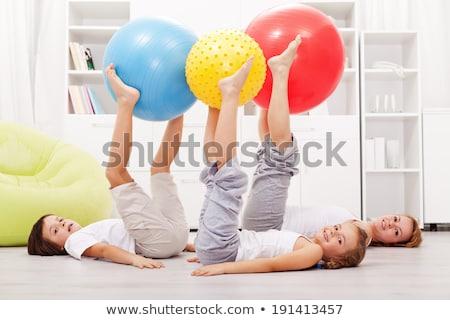 行使 · 太り過ぎ · 女性 · ボール · 孤立した · 白 - ストックフォト © is2