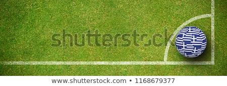 サッカー · サッカー · ボール · ギリシャ · フラグ · 3D - ストックフォト © wavebreak_media