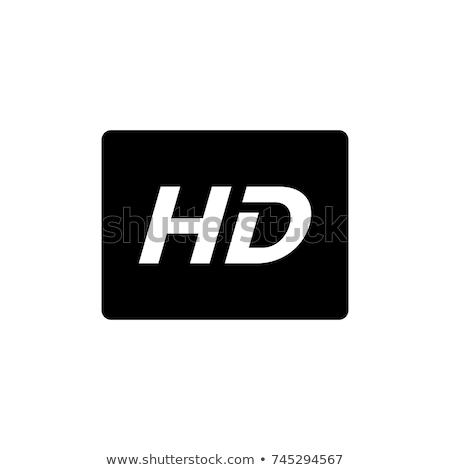 Hd икона иллюстрация иконки белый аннотация Сток-фото © get4net
