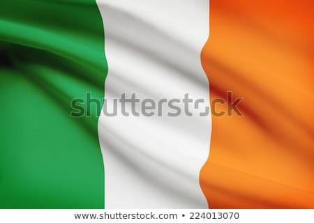 Irlandés bandera Irlanda aislado blanco naranja Foto stock © claudiodivizia