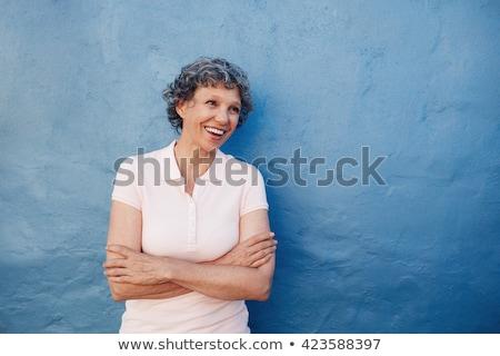Retrato altos mujer sonriente felizmente mujer feliz Foto stock © monkey_business