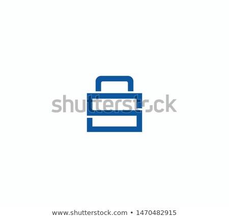 Document Lock Icon Vector. Cyber Data Security Illustration. Sheet Of Paper Lock Logo. Computing Dig Stock photo © kyryloff
